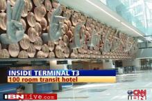 First flight touchdown at IGI airport's T3