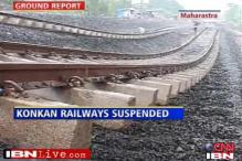 Rains, landslides throw Konkan Railway off track