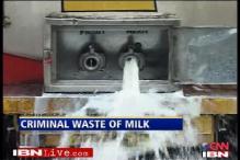 The Shiv Sena way: waste milk, register protest