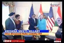 Krishna runs into Qureshi, meets Hillary later