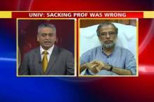 University V-C admits sacking professor was wrong
