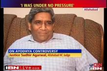 I was under no pressure: Ayodhya judge