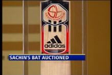 Sachin's bat auctioned for Rs. 42 lakh