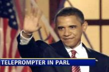 Obama to debut with his friend, Mr Teleprompter