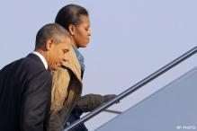 In pics: Obama arrives in India