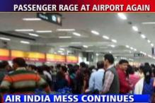 Passengers take over booth at Delhi airport