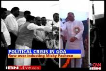Crisis in Goa: row over Pacheco's induction