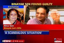 Dr Sen's wife calls his conviction 'scandalous'