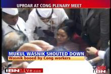 Wasnik heckled at Congress plenary meet