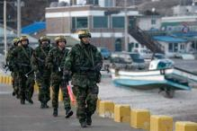 South Korea stages live fire drill near border