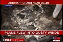 In Pics: Air crash in Faridabad