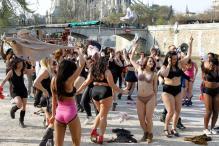 Flash it! Underwear dance on streets of Paris