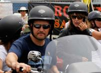 Pics: Sarah Palin rides a Harley-Davidson motorcycle