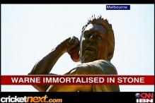 Shane Warne immortalised in stone