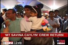 Freed MT Savina Caylyn sailors return home
