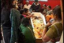 Pune: Family and friends bid Anuj Bidve goodbye