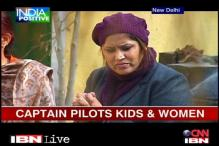 Asia's first woman commercial pilot on literacy mission