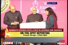 TV18 bags top honours at Ramnath Goenka Awards