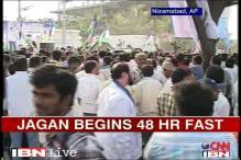 Telangana: Jagan begins 48-hour fast for farmers