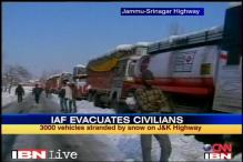 J&K: IAF to evacuate people stranded on highway