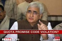 Khurshid caught in quota row, to reply to EC today