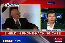UK: Five held in phone hacking scandal