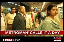 Satisfied with the DMRC experience: E Sreedharan