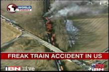 3 trains collide in US, no casualties reported