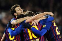 Barcelona beat Valencia to enter Copa final