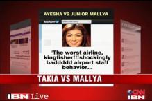 Ayesha Takia, Mallya Junior in a Twitter spat
