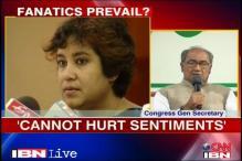 Books should not hurt sentiments: Digvijaya on Taslima