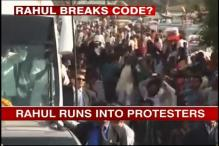 Kanpur: Rahul shown black flags during road show