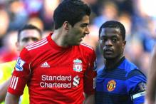 Watch: Suarez refuses to shake hands with Evra