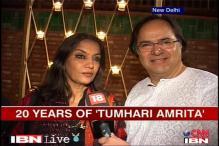 Shabana Azmi, Farooq Shaikh in 'Tumhari Amrita'