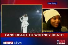 Fans react to pop singer Whitney Houston's death