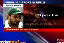 Shahid Afridi involved in airport scuffle
