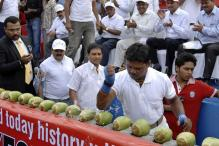 Snapshot: World record for breaking coconuts
