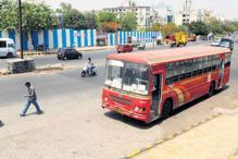 Bangalore: Buses parked in front of houses at night
