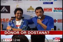 John Abraham promotes 'Vicky Donor' in the capital
