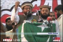 Hafiz Saeed and supporters rally against US bounty