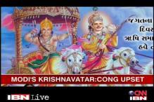 Modi's portrayal as Krishna sparks political row