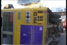 Mumbai: Double decker bus overturns, kills one