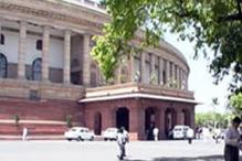 Suspended Telangana MPs block Parliament gate