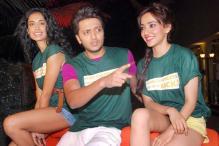 Riteish Deshmukh, Sarah Jane Dias and Neha Sharma's pool party