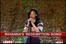 Rihanna croons Bob Marley's 'Redemption Song'