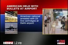 American arrested with cartridges at IGI airport