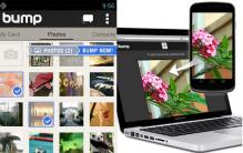 Bump for Android now transfers photos to your PC