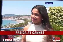 Watch: Freida Pinto at Cannes