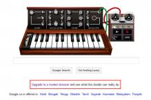 Google using Bob Moog doodle to promote Chrome