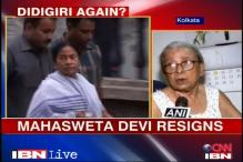Upset Mahasweta Devi quits post given by Mamata
